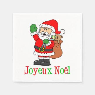 Serviettes En Papier Serviettes françaises de Noël de Joyeux Noel Père
