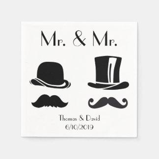 Serviettes En Papier Serviettes gaies vintages de mariage