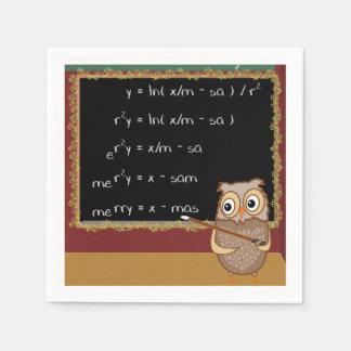 Serviettes En Papier Souhait de Noël de mathématiques
