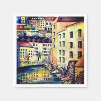 Serviettes En Papier Stockholm - Gamla Stan, vieille ville, Suède