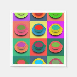Serviettes En Papier Tasses de café de Bruit-Art