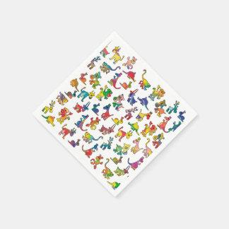 Serviettes En Papier Tuiles abstraites de motif d'animaux