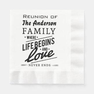 Serviettes En Papier Typographie de cru de la Réunion de membre de la
