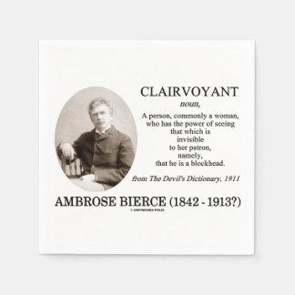 Serviettes En Papier Voyant d'Ambrose Bierce le dictionnaire du diable