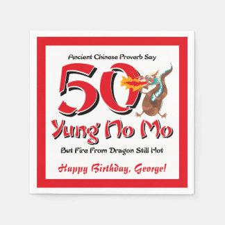 Serviettes En Papier Yung aucun cinquantième anniversaire de MOIS