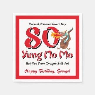 Serviettes En Papier Yung aucun quatre-vingtième anniversaire de MOIS