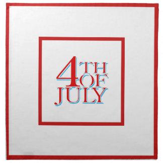 Serviettes En Tissus 4 juillet -