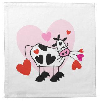 Serviettes En Tissus Amants de vache