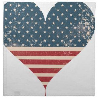 SERVIETTES EN TISSUS AMERICAN-HEART