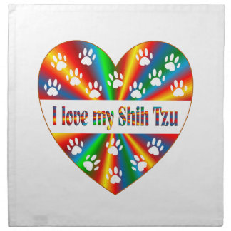 Serviettes En Tissus Amour de Shih Tzu