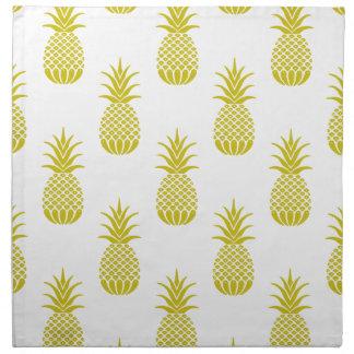 Serviettes En Tissus Ananas