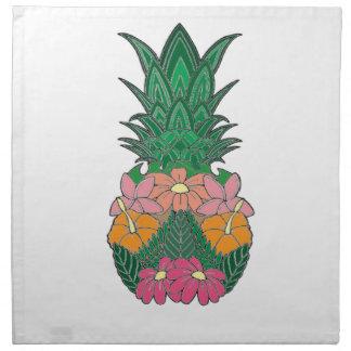 Serviettes En Tissus Ananas fleuri