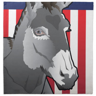 Serviettes En Tissus Âne des Etats-Unis, fierté de Démocrate