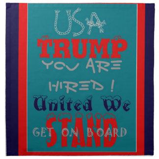 Serviettes En Tissus Atout des Etats-Unis vous êtes engagés ! Uni nous