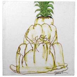 Serviettes En Tissus chat élégant de jello de l'ananas des fernandes