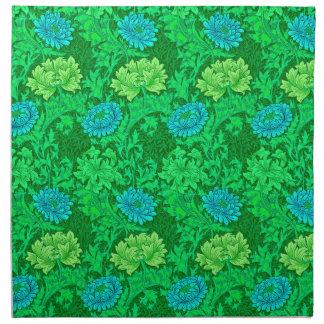 Serviettes En Tissus Chrysanthèmes de William Morris, vert de chaux et