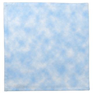 Serviettes En Tissus Conception bleue et blanche créée de nuages