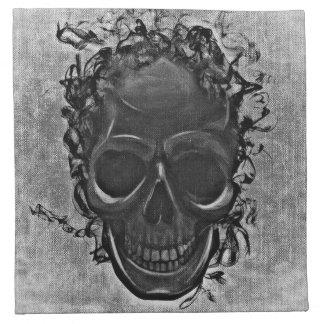 Serviettes En Tissus Crâne gris