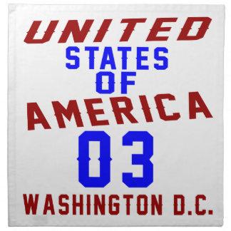 Serviettes En Tissus DC des Etats-Unis d'Amérique 03 Washington