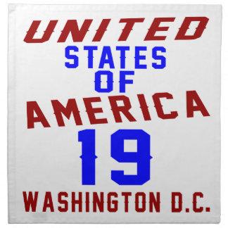 Serviettes En Tissus DC des Etats-Unis d'Amérique 19 Washington