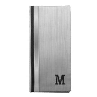 Serviettes En Tissus Dessin géométrique métallique gris