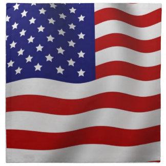 Serviettes En Tissus Drapeau américain