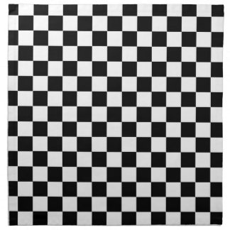 Serviettes En Tissus Drapeau Checkered