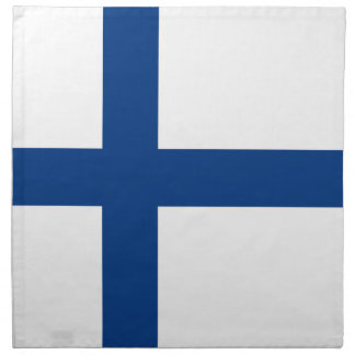 Serviettes En Tissus Drapeau de la Finlande