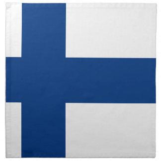 Serviettes En Tissus Drapeau de la Finlande (lippu de Suomen, flagga de
