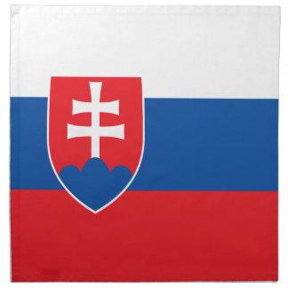 Serviettes En Tissus Drapeau de la Slovaquie
