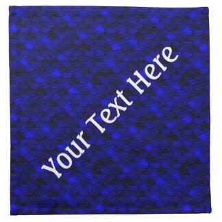 Serviettes En Tissus Échelles bleu-foncé de sirène de Falln