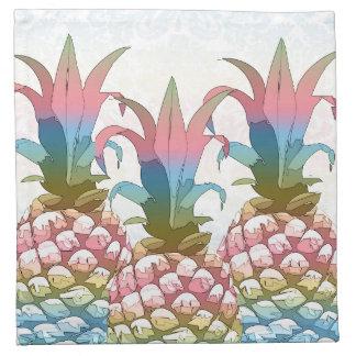 Serviettes En Tissus Gradient en pastel ID246 d'ananas
