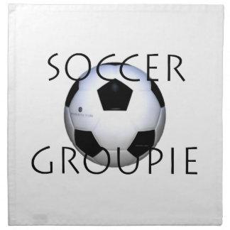 Serviettes En Tissus Groupie SUPÉRIEURE du football