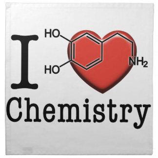 Serviettes En Tissus J'aime la chimie
