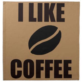 Serviettes En Tissus J'aime le café