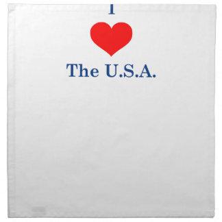 Serviettes En Tissus J'aime les Etats-Unis