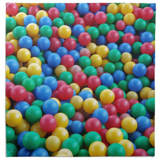Serviettes En Tissus Jeu coloré d'enfants de boules de mine de boule