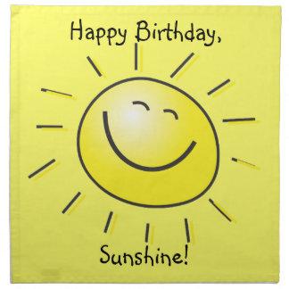 Serviettes En Tissus Joyeux anniversaire, soleil !