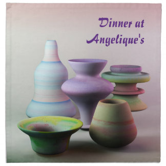 Serviettes En Tissus La créativité de poterie d'aquarelle ne sort