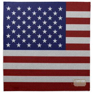 Serviettes En Tissus Le cru de drapeau des Etats-Unis a conçu la