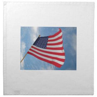 Serviettes En Tissus Le drapeau marque les troupes Etats-Unis d'honneur