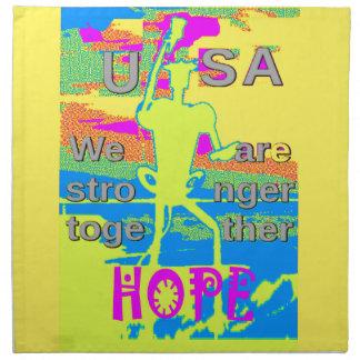 Serviettes En Tissus Le meilleur espoir Hillary des Etats-Unis plus