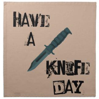 Serviettes En Tissus Les couteaux ont un jour de couteau