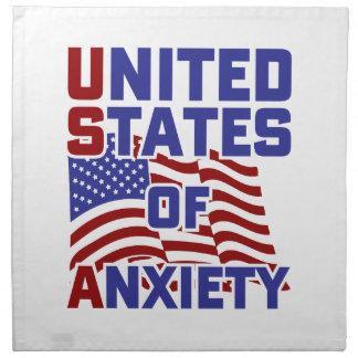 Serviettes En Tissus Les Etats-Unis de l'inquiétude
