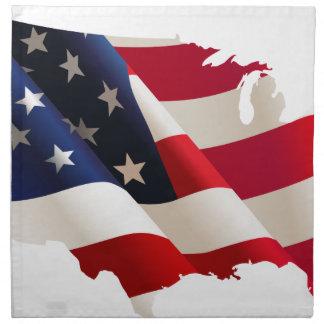 Serviettes En Tissus Les Etats-Unis ondulent le drapeau