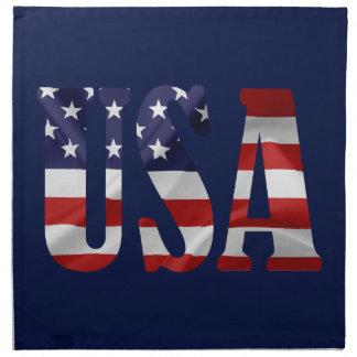 Serviettes En Tissus Les Etats-Unis patriotiques