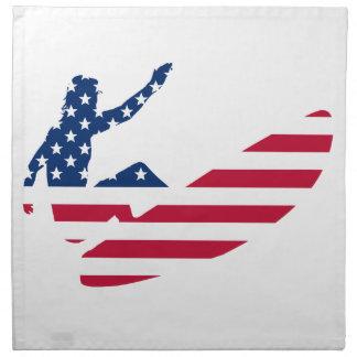Serviettes En Tissus Les Etats-Unis surfant le surfer américain