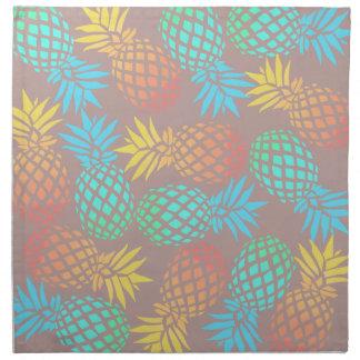Serviettes En Tissus motif coloré tropical d'ananas d'été élégant
