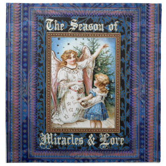 Serviettes En Tissus Noël 1 - La saison des miracles et de l'amour