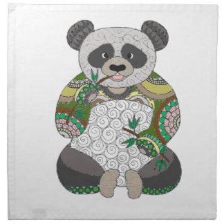 Serviettes En Tissus Ours panda
